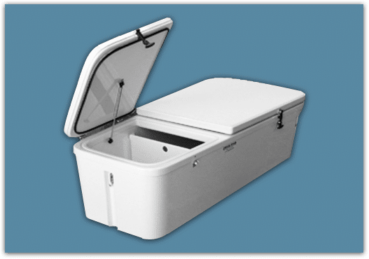 Our Coffin Box Comes With A Standard Lid Or A Double Lid Divider. It Can Be  Mounted To The Deck Using Our Heavy Duty Stainless Steel Turnbuckles.